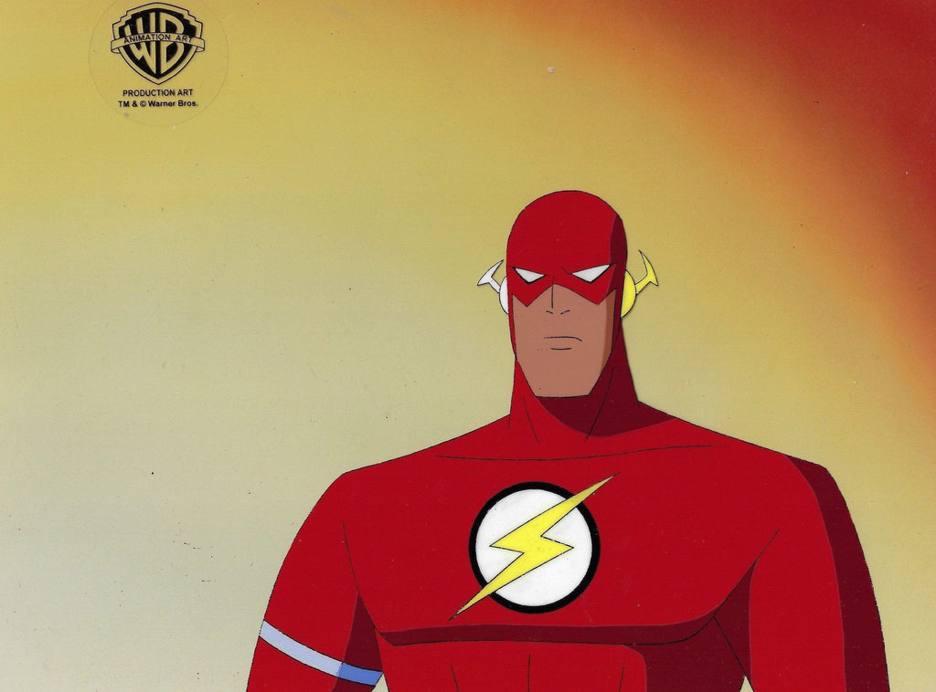 SUPERMAN: THE ANIMATED SERIES PRODUCTION CEL: FLASH Original Production Cel DC COMICS FINE ART