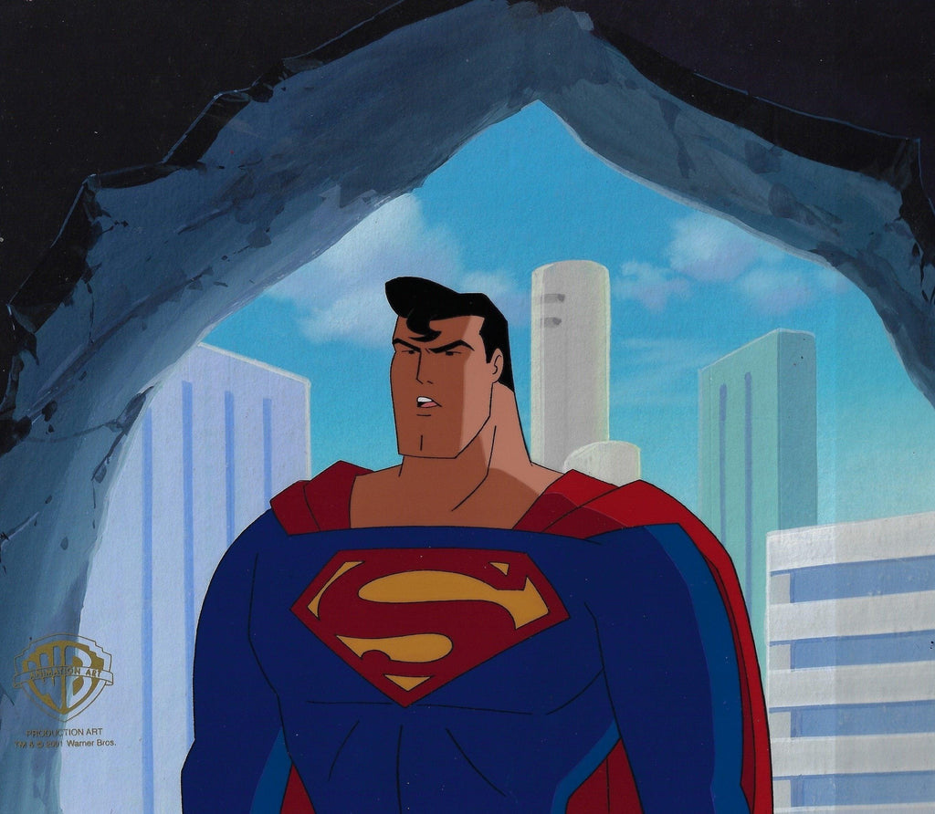 SUPERMAN: THE ANIMATED SERIES PRODUCTION CEL: SUPERMAN Original Production Cel DC COMICS FINE ART