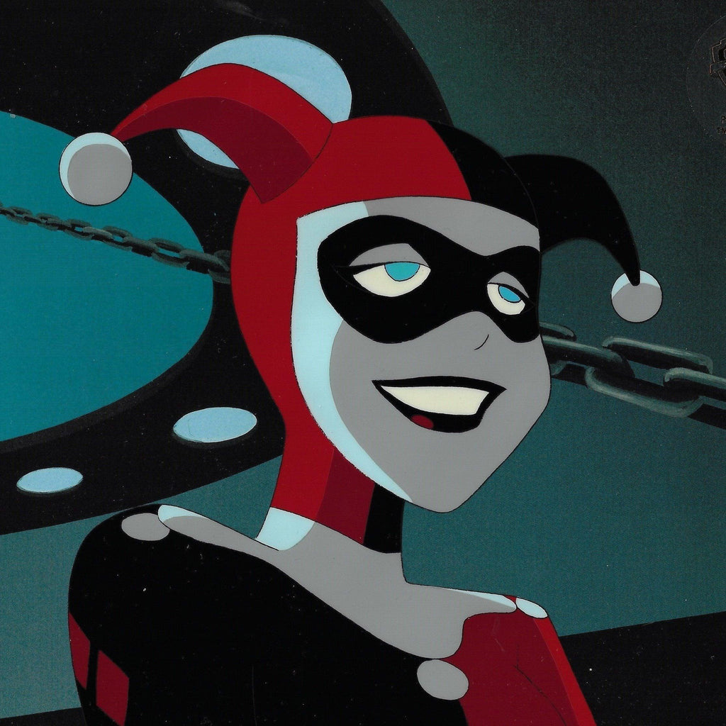 NEW ADVENTURES OF BATMAN PRODUCTION CEL: HARLEY QUINN Original Production Cel DC COMICS FINE ART