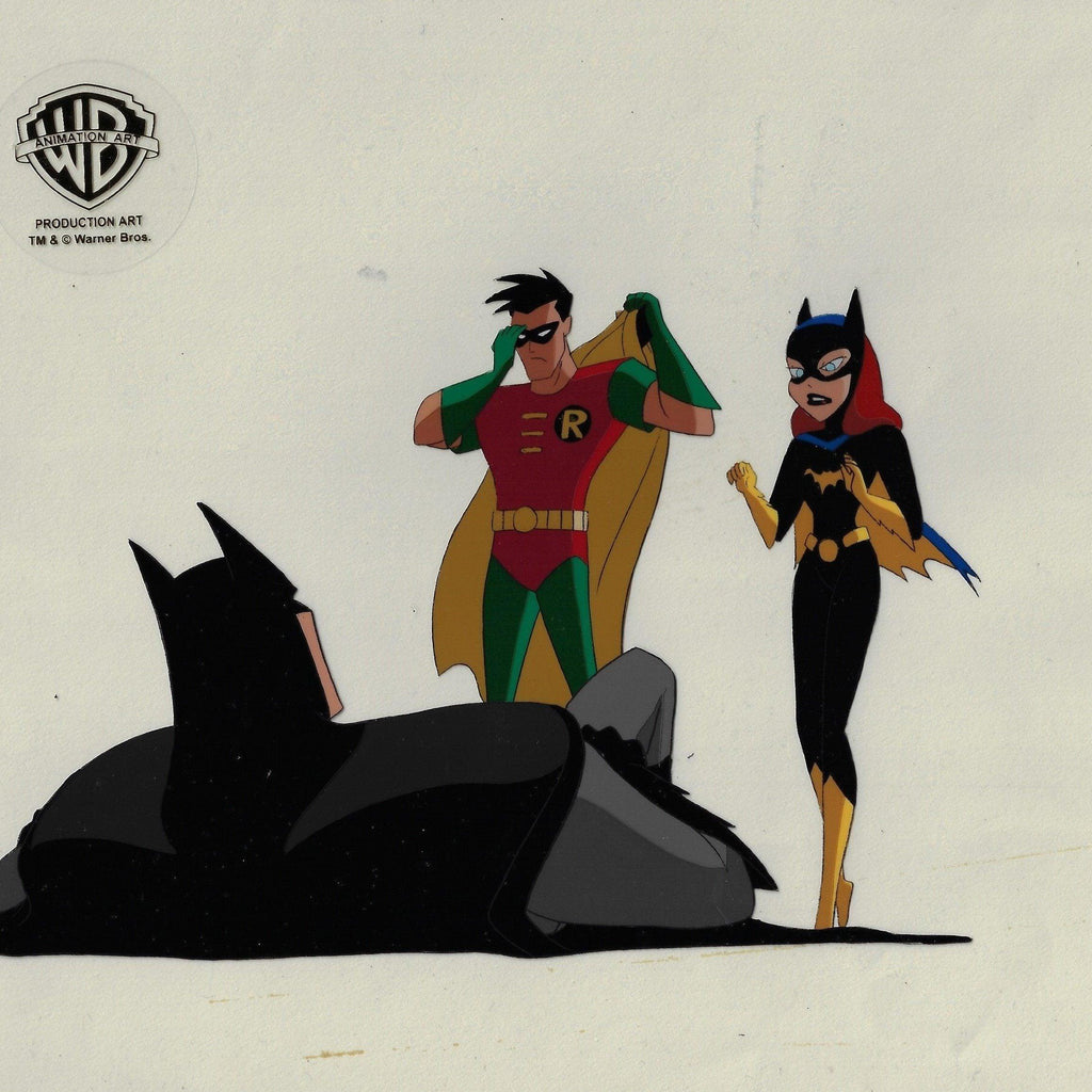 NEW ADVENTURES OF BATMAN PRODUCTION CEL: BATMAN, ROBIN AND BATGIRL Original Production Cel DC COMICS FINE ART