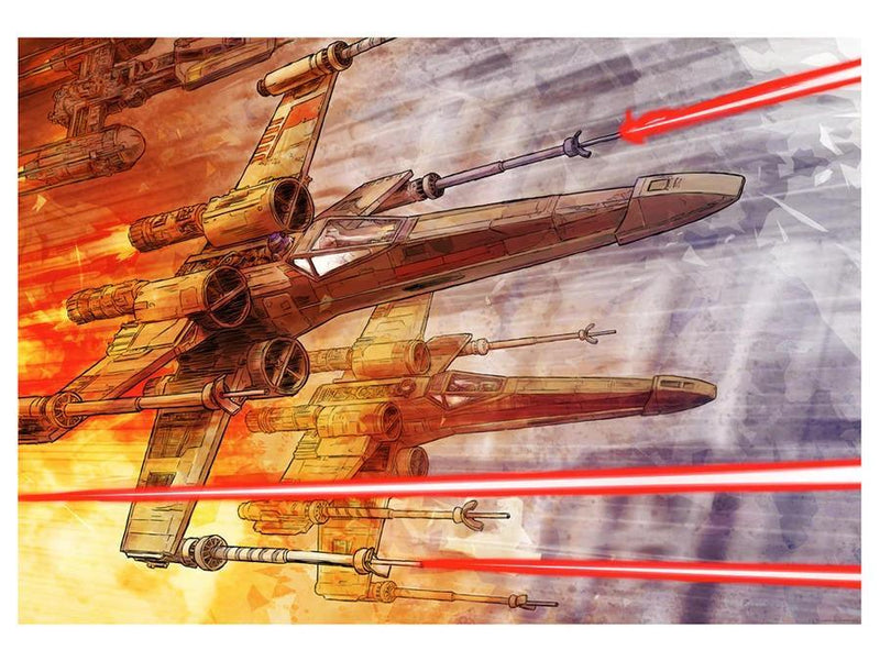 RED 5 Lithograph STAR WARS FINE ART
