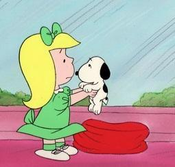 PEANUTS PRODUCTION ART: SNOOPY AND LILA