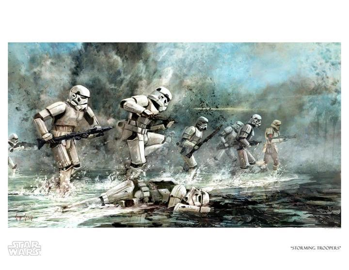 STORMING TROOPERS Giclée on Paper STAR WARS FINE ART