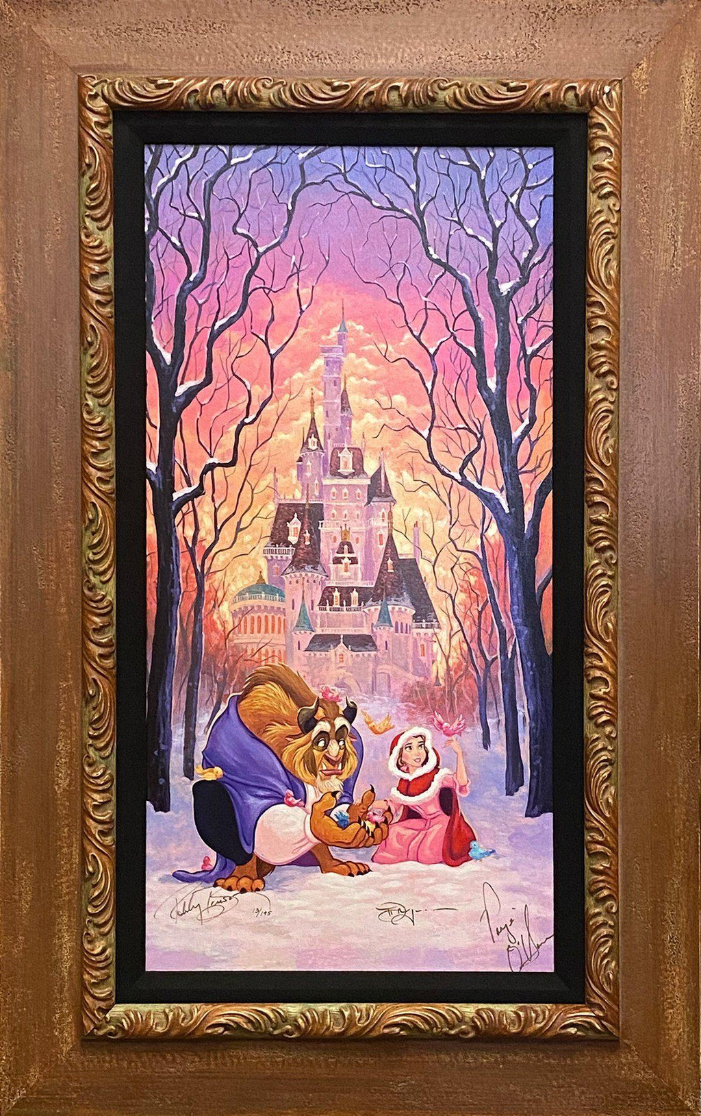 TRIPLE SIGNED DISNEY LIMITED EDITION: THERE'S SOMETHING SWEET Giclée On Canvas Tim Rogerson