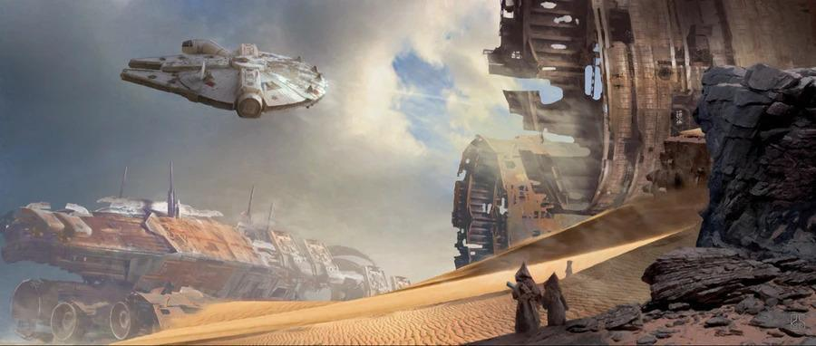 THROUGH THE WRECKAGE Giclée On Canvas STAR WARS FINE ART