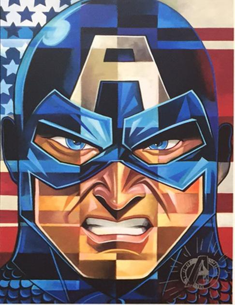 CAPTAIN AMERICA- MIGHTY MINI Mighty Mini MARVEL FINE ART
