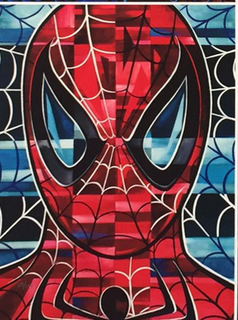 SPIDER-MAN- MIGHTY MINI Giclée On Canvas MARVEL FINE ART