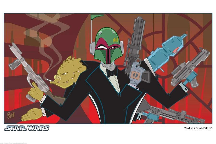 VADER'S ANGELS Giclee On Paper STAR WARS FINE ART