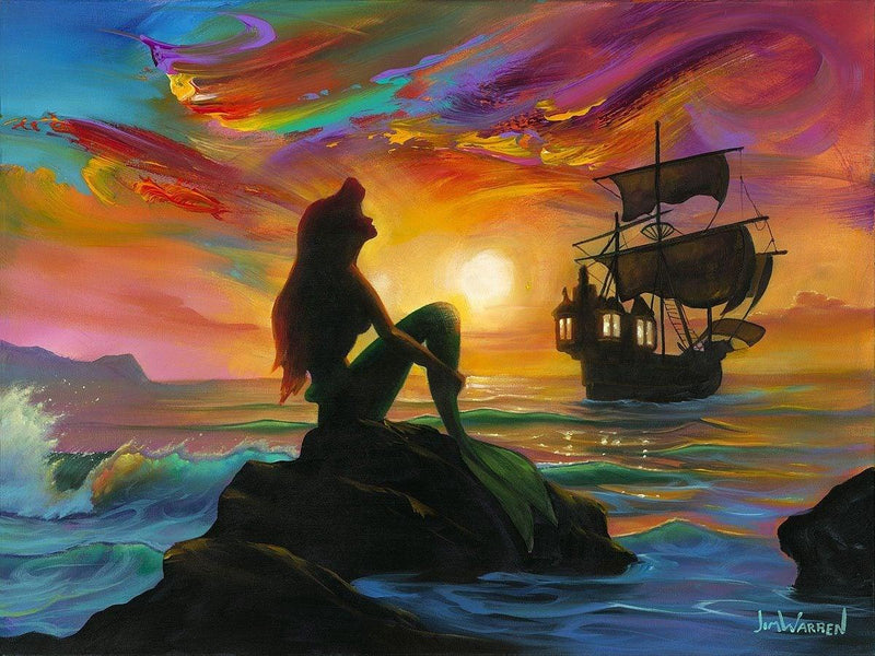 DISNEY LIMITED EDITION: WAITING FOR THE SHIP TO COME IN Giclée On Canvas DISNEY FINE ART