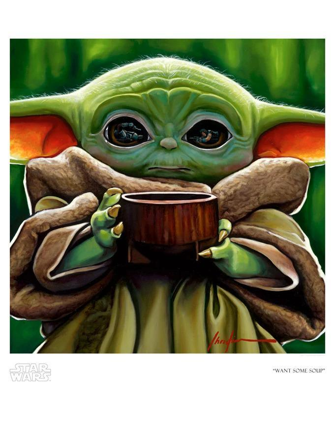 WANT SOME SOUP Giclée On Paper/Canvas STAR WARS FINE ART