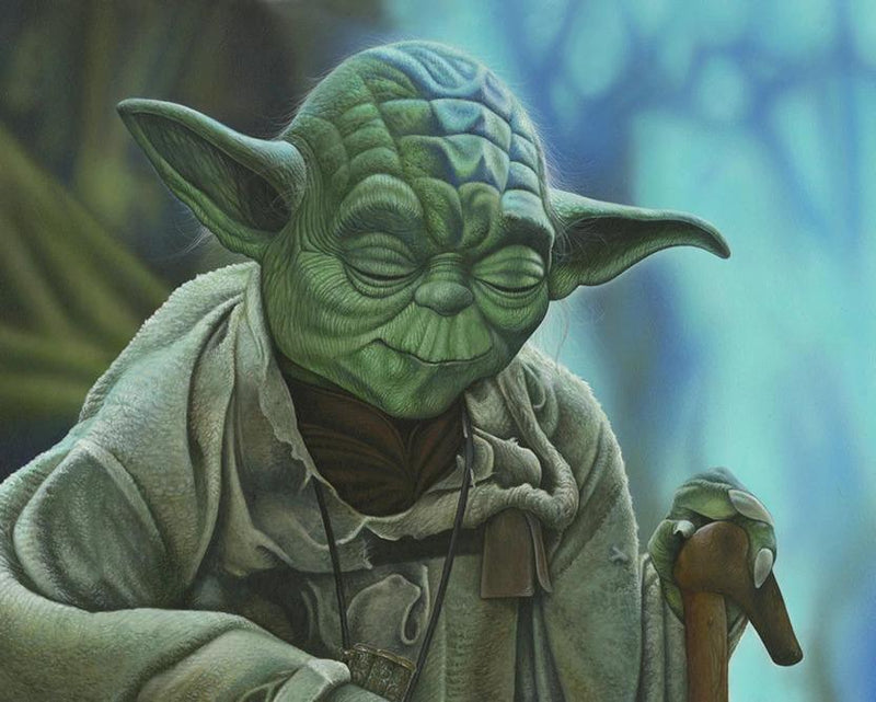 YODA Giclée On Canvas STAR WARS FINE ART