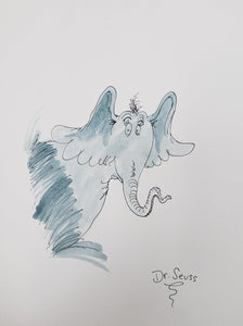 "HORTON HEARS A WHO SIGNED BY THEODORE ""DR.SEUSS"" GEISEL"