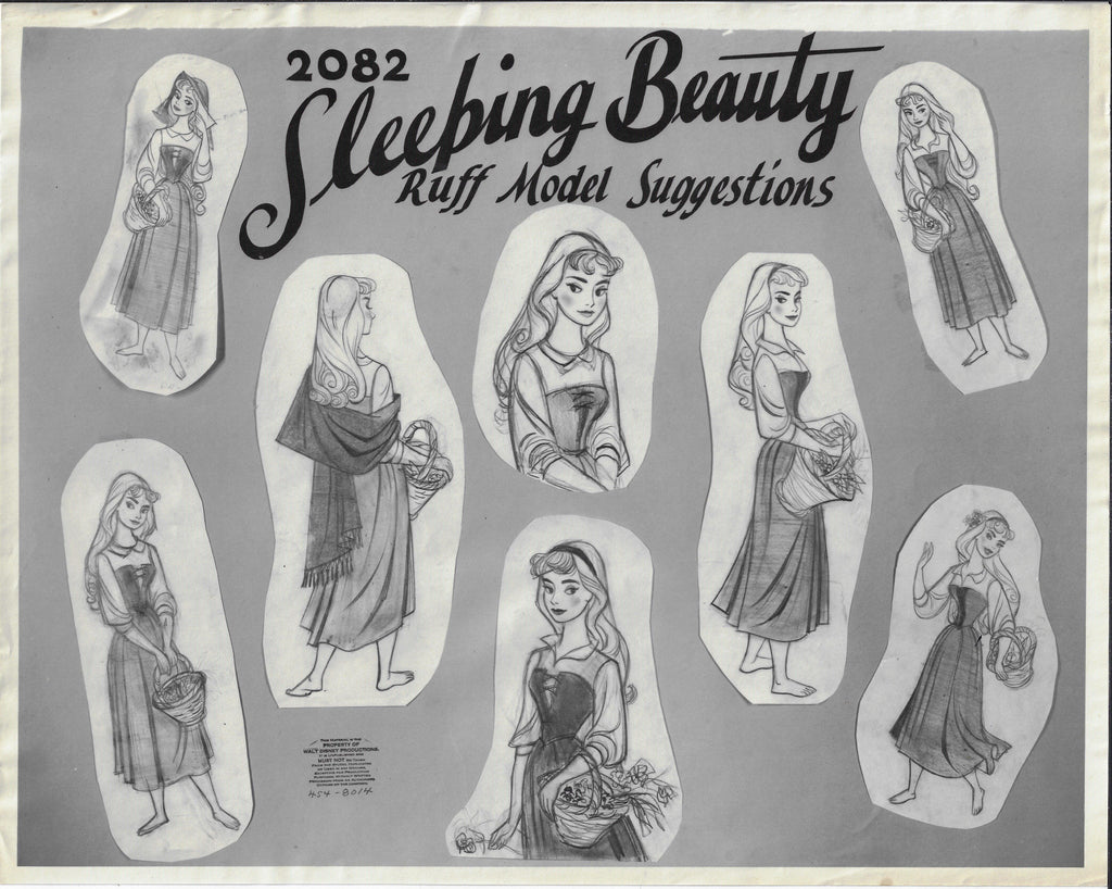 SLEEPING BEAUTY ORIGINAL PRODUCTION MODEL SHEET Model Sheet Walt Disney Studio Art