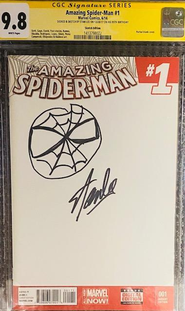 THE AMAZING SPIDER-MAN #1 MARVEL COMICS CGC GRADED: SIGNED AND SKETCHED BY STAN LEE CGC Graded Marvel Comic MARVEL FINE ART