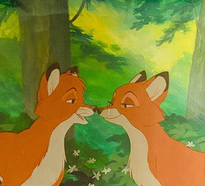 THE FOX AND THE HOUND ORIGINAL PRODUCTION CEL: TOD AND VIXEY
