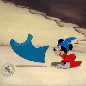 MICKEY MOUSE AS THE SORCERER'S APPRENTICE ORIGINAL PRODUCTION CEL