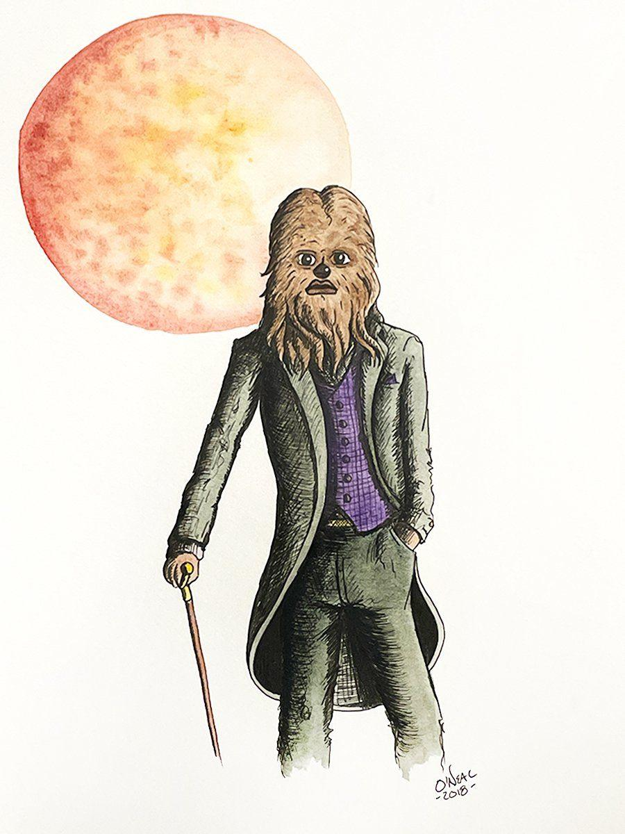 CHEWBACCA ORIGINAL WATERCOLOR Original Watercolor Colin O'Neal