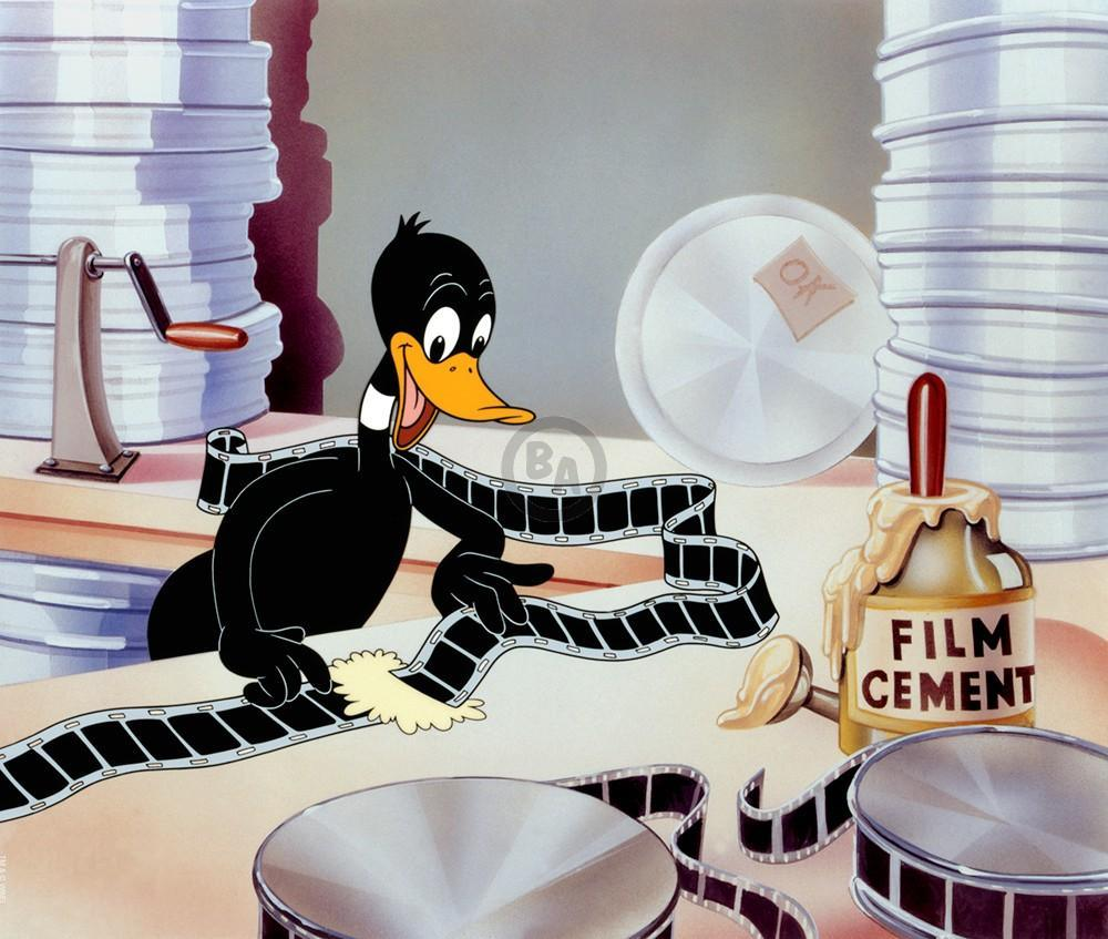 DAFFY FILM EDITOR Giclee On Paper LOONEY TUNES FINE ART