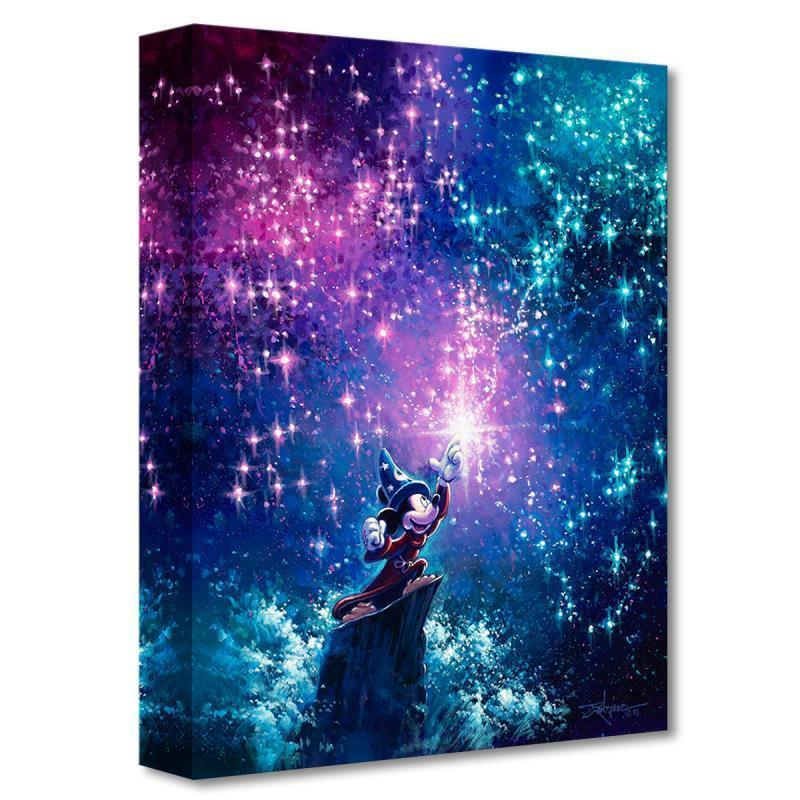 DISNEY TREASURES: SORCERER MICKEY Giclée On Canvas DISNEY FINE ART