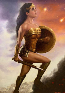 DOO S. OH ORIGINAL: PAINTING: WONDER WOMAN