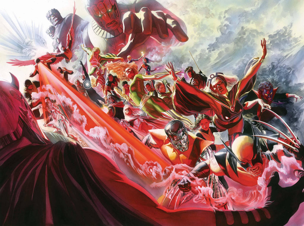 X-MEN EVOLUTION BY ALEX ROSS Giclée On Canvas MARVEL FINE ART