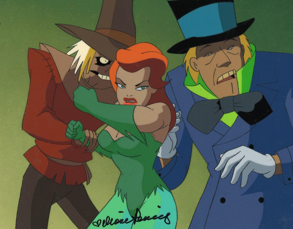 BATMAN THE ANIMATED SERIES ORIGINAL PRODUCTION CEL: POISON IVY, MAD HATTER, AND SCARECROW Original Production Cel DC Comics Studio Artist