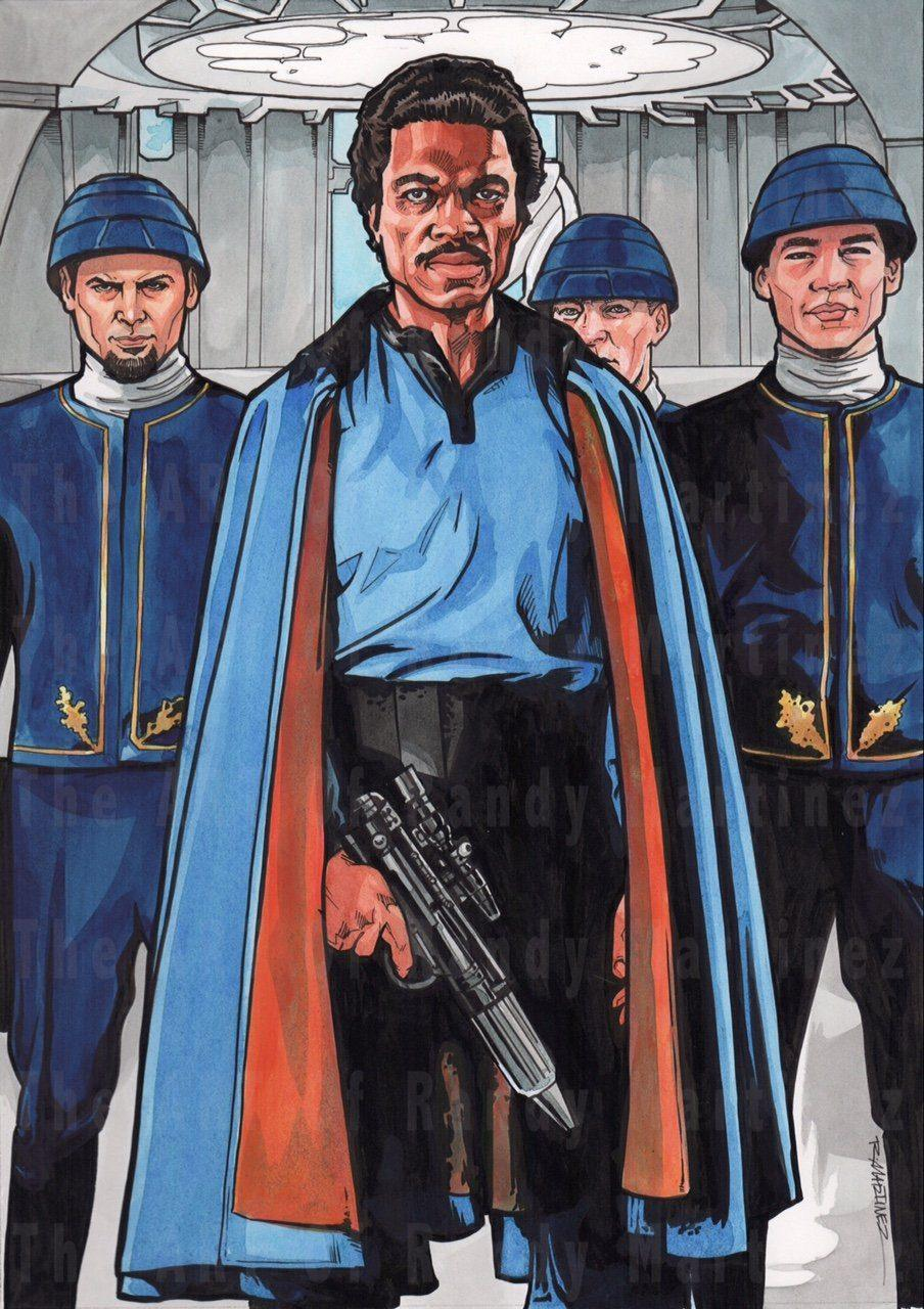 LANDO ORIGINAL ILLUSTRATION BY RANDY MARTINEZ Original Painting Randy Martinez