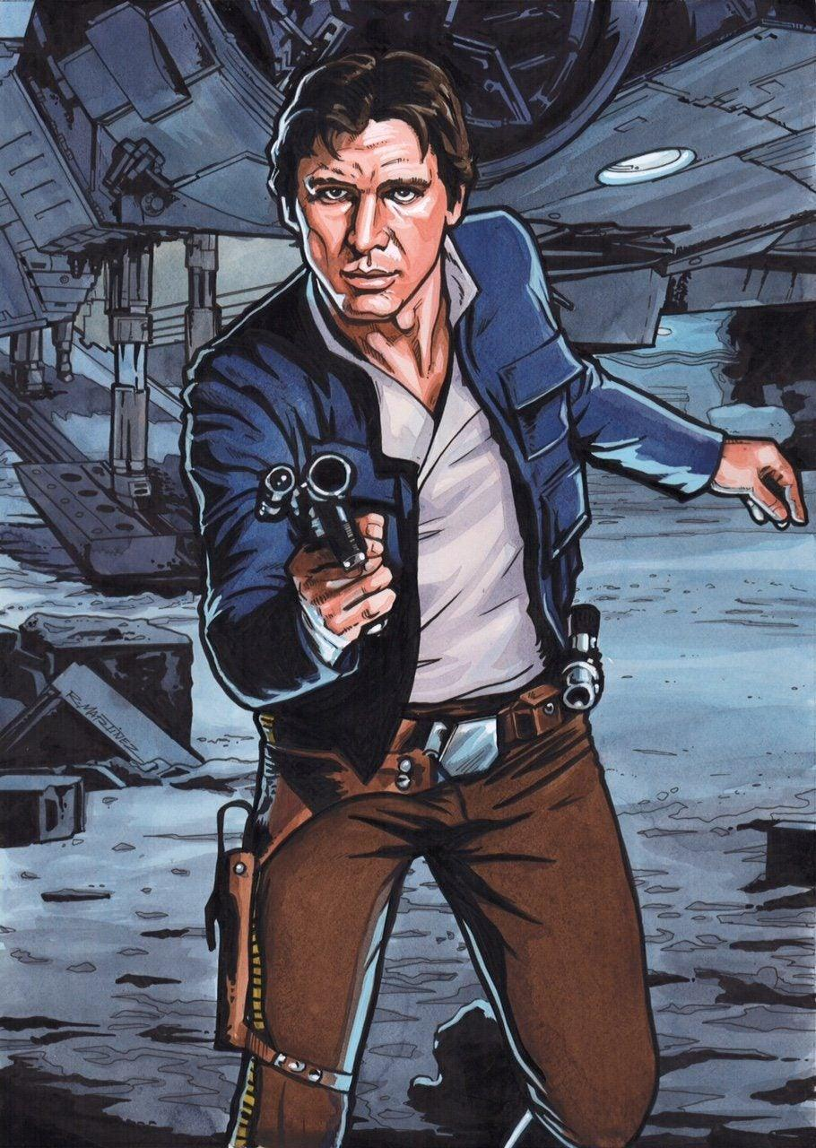 HAN SOLO ORIGINAL ILLUSTRATION BY RANDY MARTINEZ Original Painting Randy Martinez