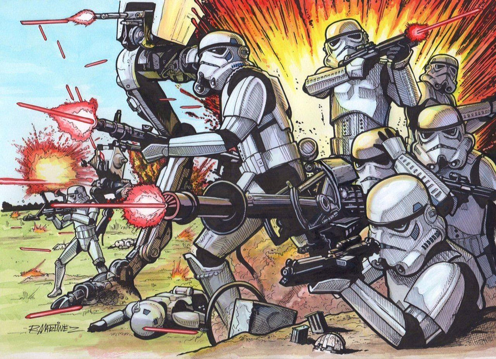 STORMTROOPERS ORIGINAL ILLUSTRATION BY RANDY MARTINEZ Original Painting Randy Martinez
