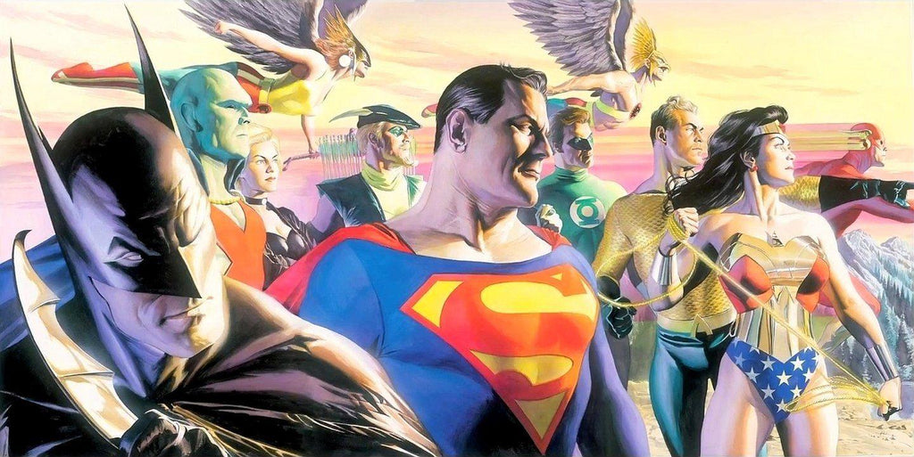 IN THE LIGHT OF JUSTICE Giclee On Canvas DC COMICS FINE ART