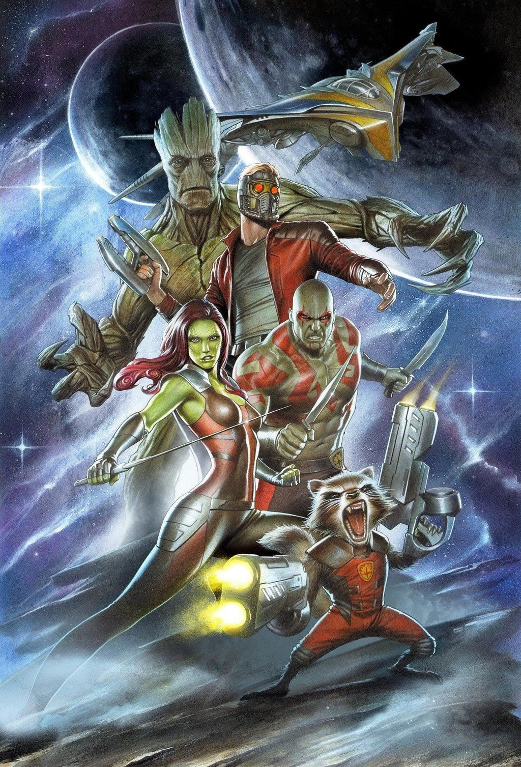 GUARDIANS BY ADI GRANOV Giclée On Canvas MARVEL FINE ART