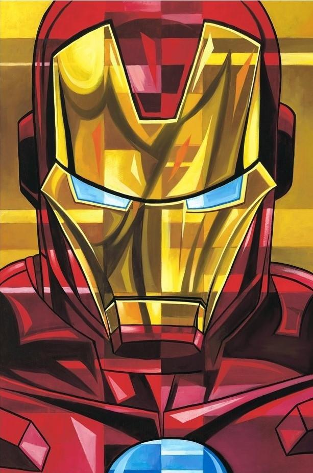 IRON MAN BY TIM ROGERSON Giclée On Canvas MARVEL FINE ART