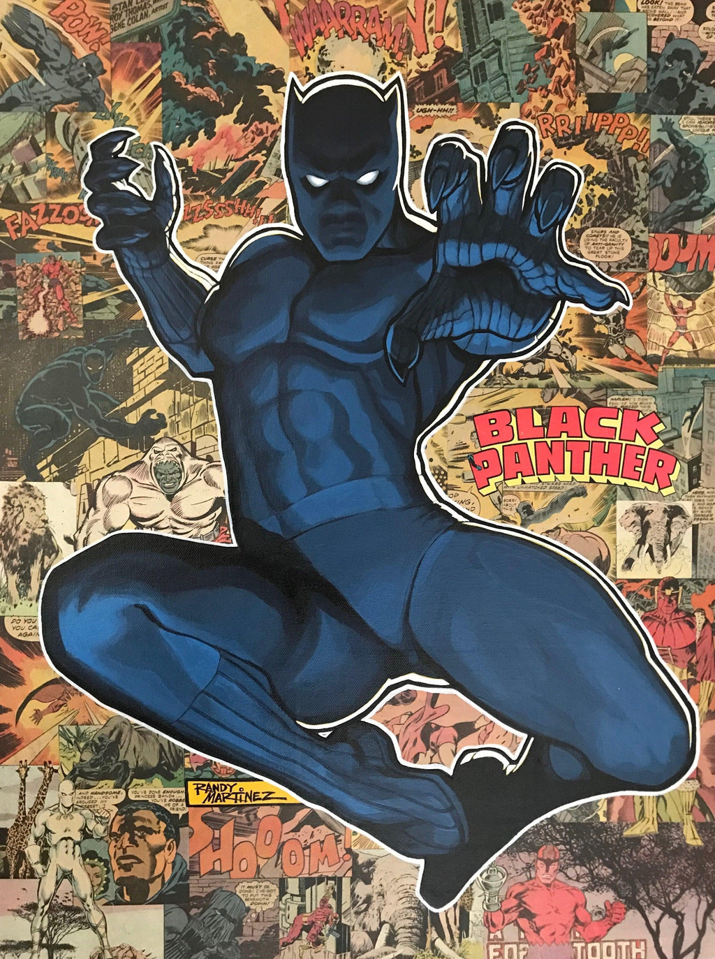 LEGACY: BLACK PANTHER Giclée On Canvas MARVEL FINE ART