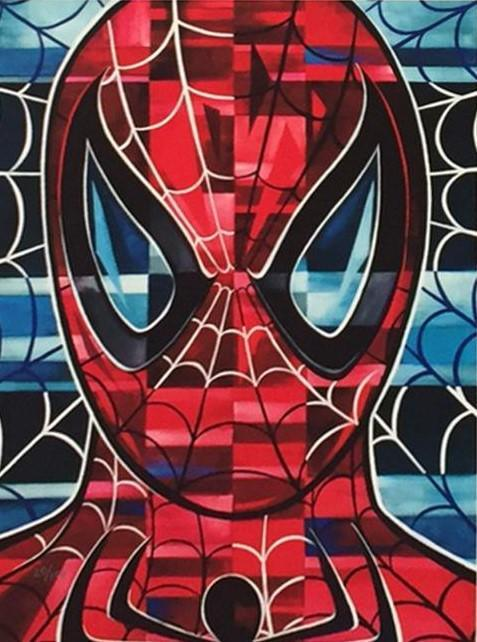 SPIDER-MAN BY TIM ROGERSON Giclée On Canvas MARVEL FINE ART