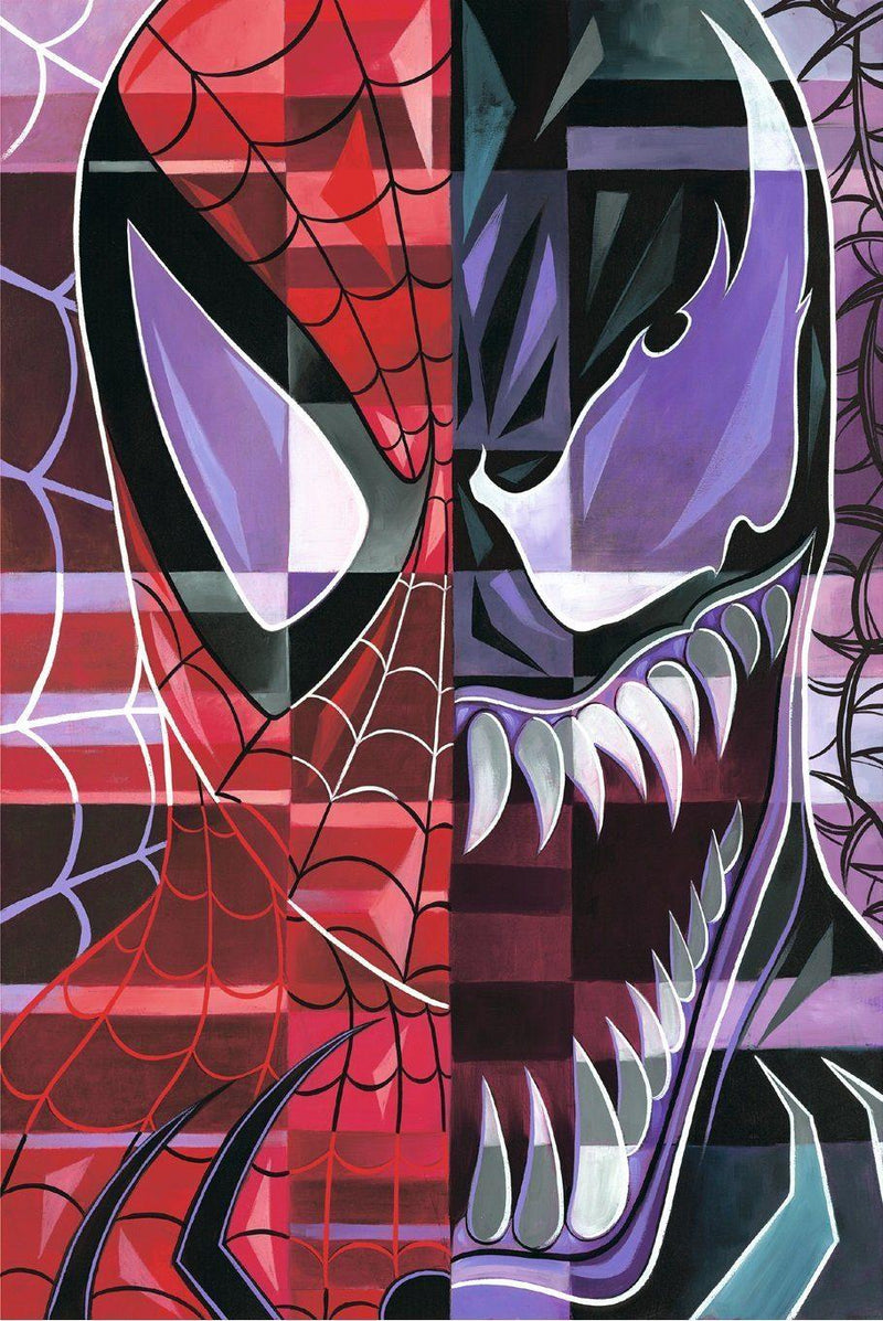 SPIDEY-VENOM BY TIM ROGERSON Giclée On Canvas MARVEL FINE ART