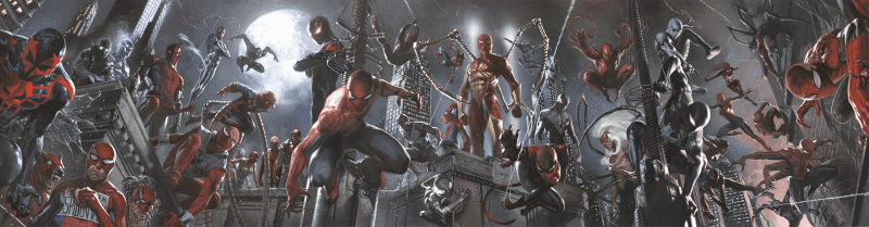 SPIDEY-VERSE Giclée On Canvas MARVEL FINE ART
