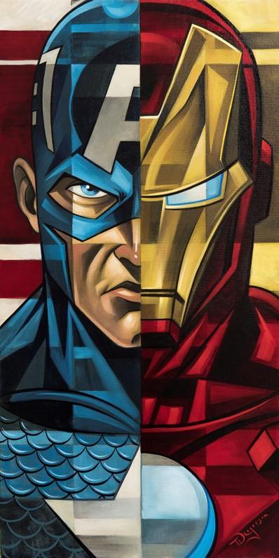 CAPTAIN AMERICA VS IRON MAN- MIGHTY MINI Mighty Mini MARVEL FINE ART