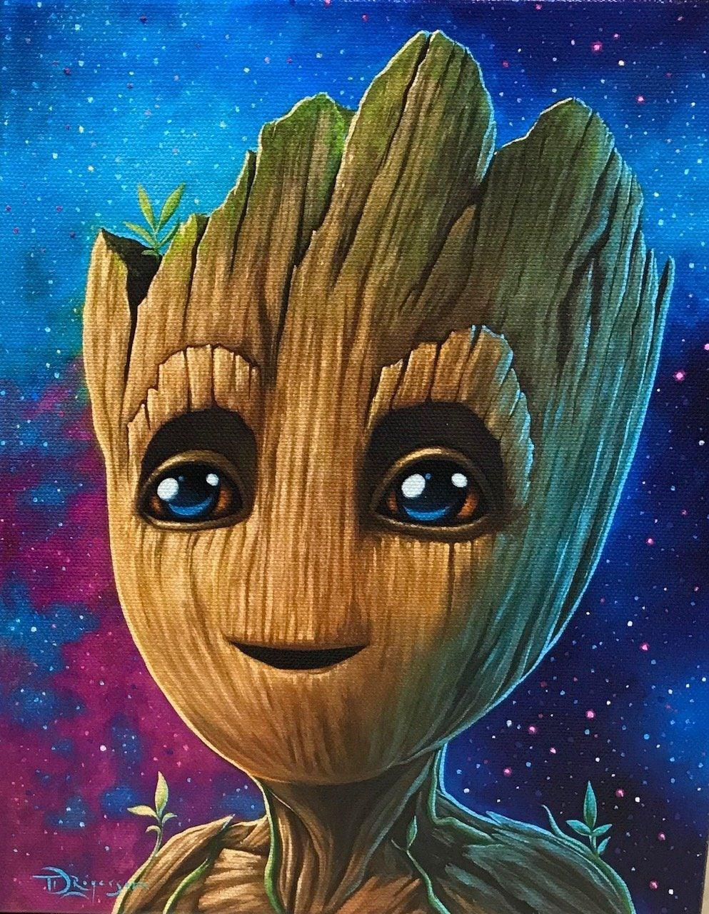 I AM BABY GROOT- MIGHTY MINI Mighty Mini MARVEL FINE ART