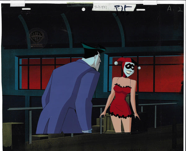 NEW ADVENTURES OF BATMAN PRODUCTION CEL: JOKER AND HARLEY QUINN