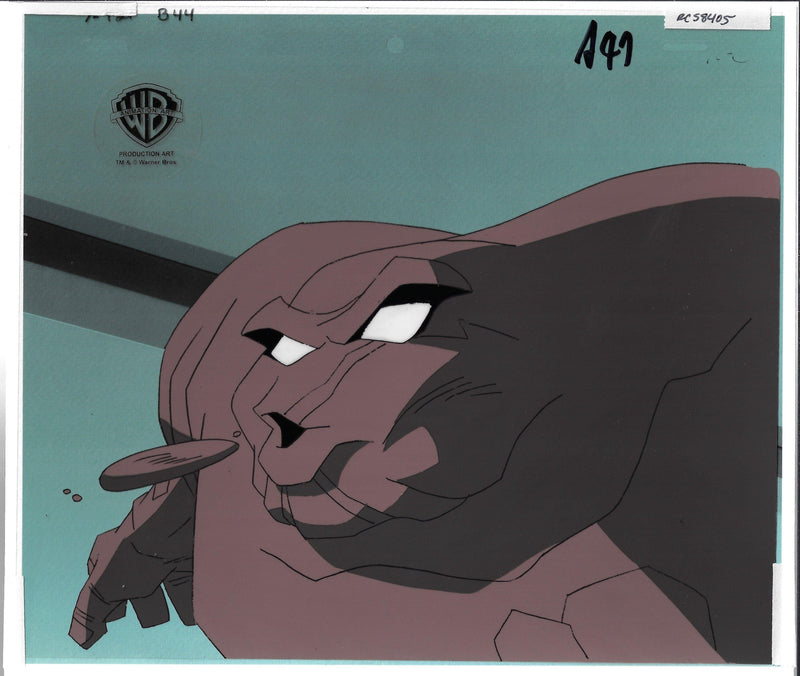 NEW ADVENTURES OF BATMAN PRODUCTION CEL: CLAYFACE Original Production Cel DC COMICS FINE ART