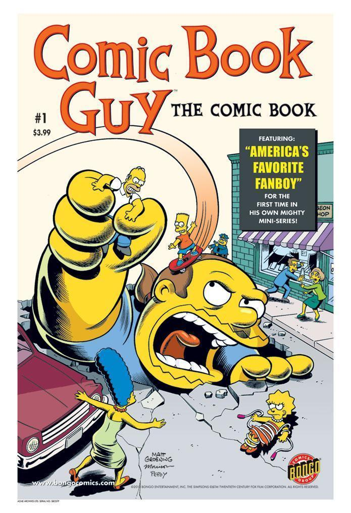 COMIC BOOK GUY THE COMIC BOOK #1 Giclee On Paper SIMPSONS FINE ART