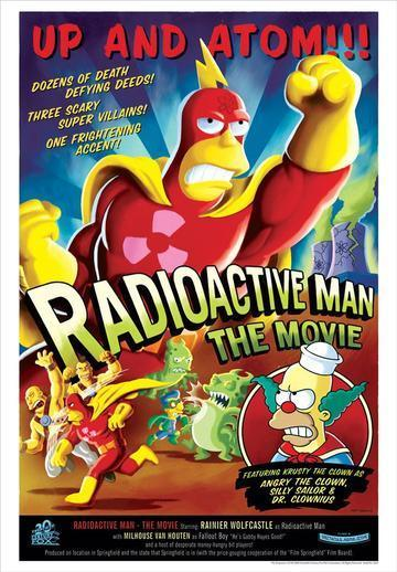 RADIOACTIVE MAN Giclée on Paper SIMPSONS FINE ART