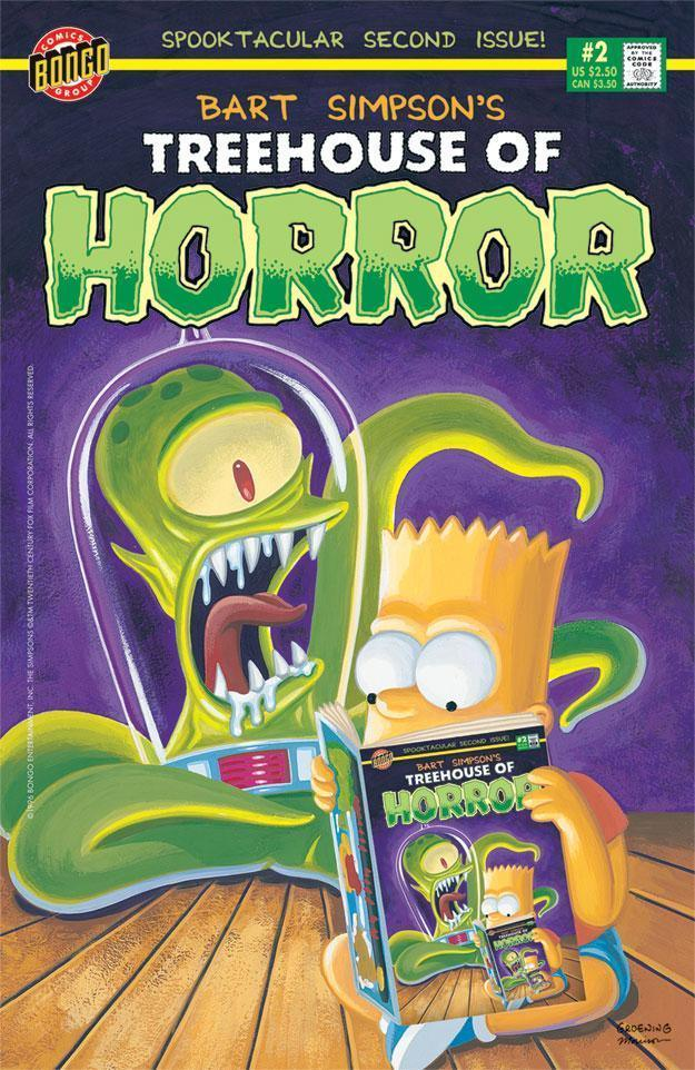 TREEHOUSE OF HORROR #2 Giclée on Paper SIMPSONS FINE ART