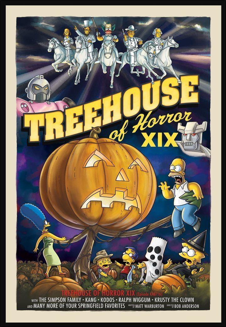 TREEHOUSE OF HORROR XIX Giclée on Paper SIMPSONS FINE ART