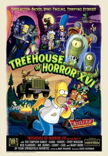 TREEHOUSE OF HORROR XVI Giclée on Paper SIMPSONS FINE ART