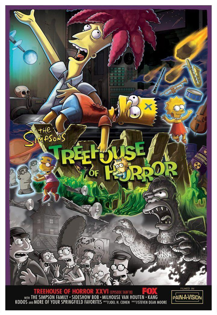 TREEHOUSE OF HORROR XXIV Giclée on Paper SIMPSONS FINE ART