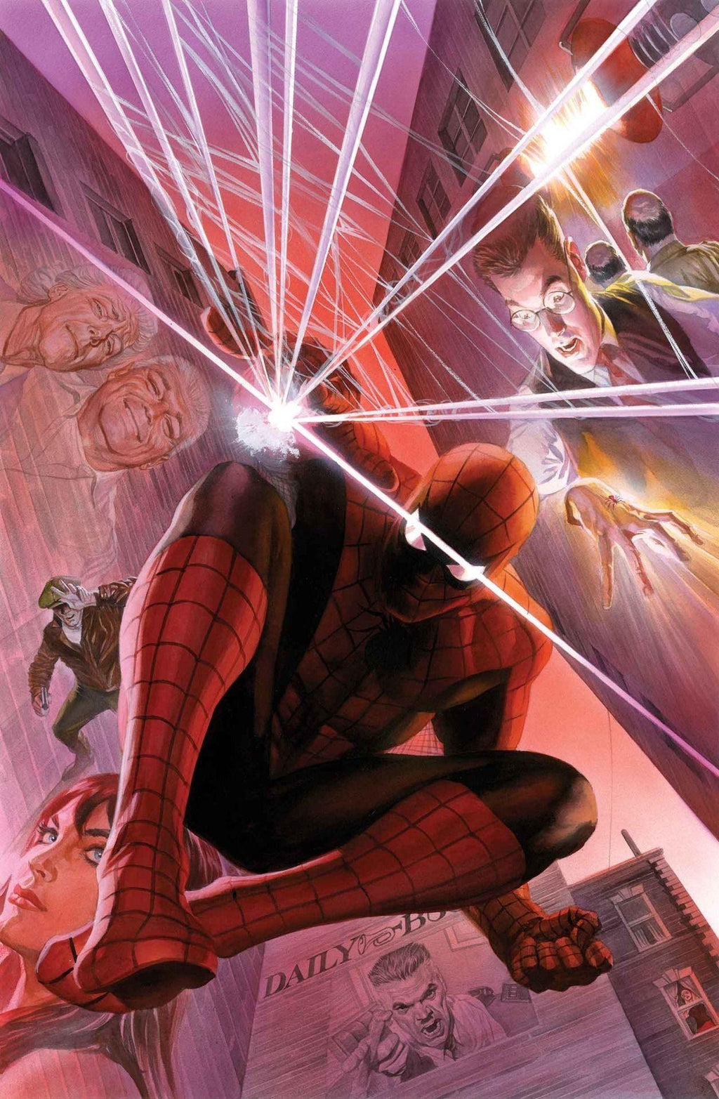WITH GREAT POWER BY ARTIST ALEX ROSS Giclée On Canvas MARVEL FINE ART