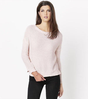 Textured Pastel Sweater PALE DOGWOOD MARL