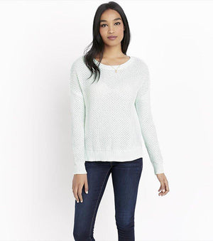 Textured Pastel Sweater FAIR AQUA MARL