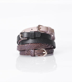 Skinny Belt Trio BLACK/BEIGE/BROWN